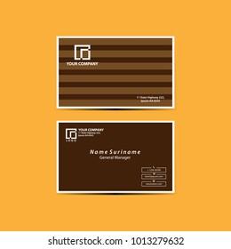 Elegant business card template vector illustration eps 10