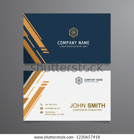 Elegant Business Card Templates Vector Luxury Stock Vector Royalty