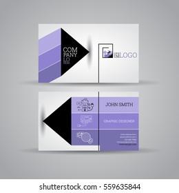 Elegant business cards set design template. Illustration, Vector eps10.