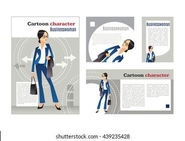 Elegant business woman. design template