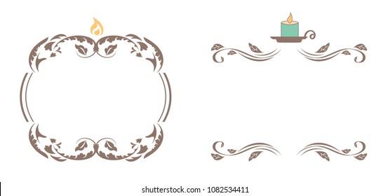 Elegant Candle Frames