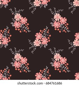 Elegant candy trendy pattern in small-scale flower. Millefleurs. Liberty style. Floral seamless background for textile, fabric, covers, manufacturing, wallpapers, print, gift wrap and scrapbooking.
