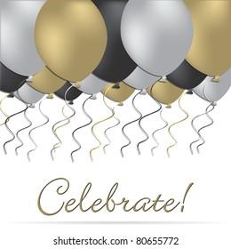 Elegant celebration card in vector format.