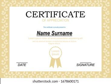 Elegant Certificate award template vector design