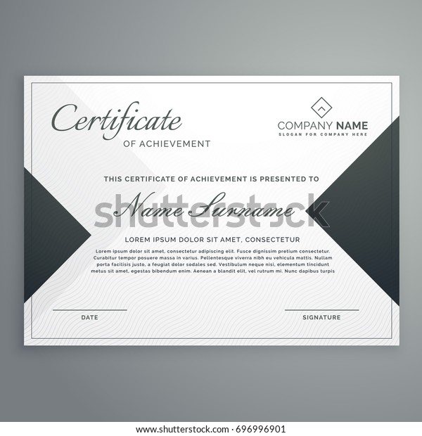Diploma Template Free from image.shutterstock.com