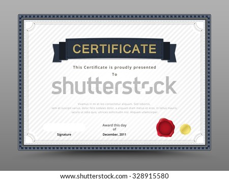 Elegant certificate template business certificate formal stock elegant certificate template business certificate formal theme vector illustration accmission Image collections
