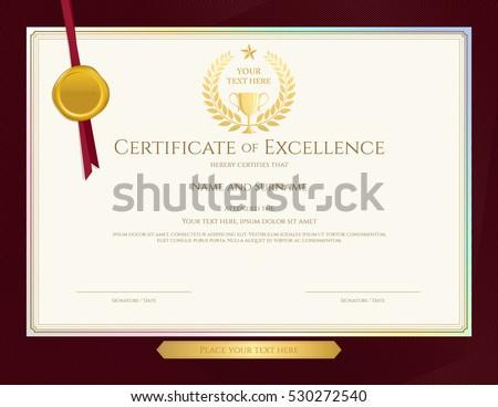 Elegant Certificate Template Excellence Achievement Appreciation
