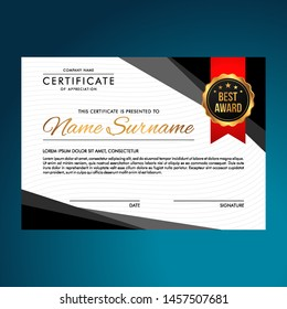 Elegant Certificate Template Vector Background