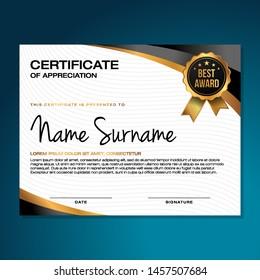 Elegant Certificate Template Vector Background