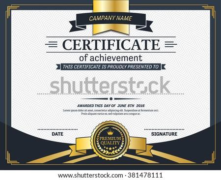 elegant certificate vector illustration template stock vector