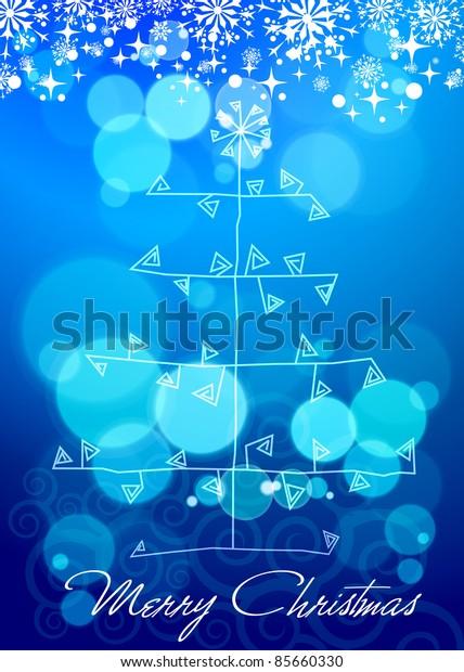 elegant christmas background with beautiful hangings