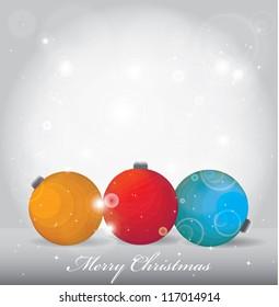 Elegant christmas background, Christmas globe