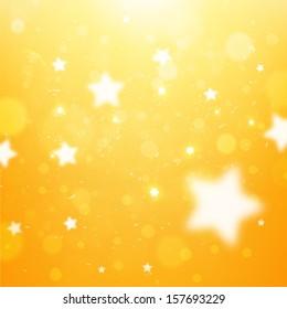 Elegant Christmas Background with Snowflakes. Orange version, vector