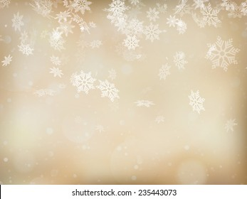 Elegant Christmas background with snowflakes and place for text. EPS 10 vector file included