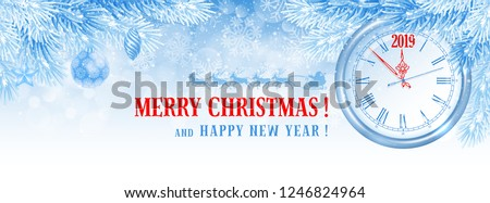 elegant christmas and new year banner template for facebook timeline cover vector illustration