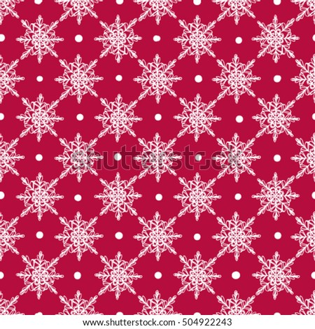 elegant christmas pattern with white snowflakes on red background festive seamless background perfect for gift - Elegant Christmas Wrapping Paper