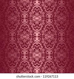 Elegant claret seamless wallpaper.