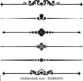 Elegant Classical Page Rule-Vintage style decorative design elements