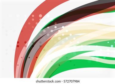 Elegant colorful wave, stripes. Vector template background for workflow layout, diagram, number options or web design