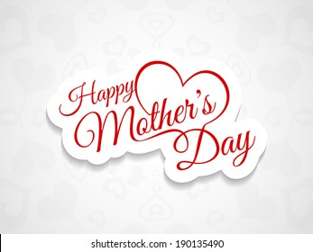 Elegant creative background design for mother's day. vector illustration