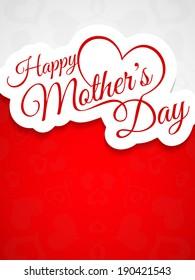 Elegant creative background design for mother's day. vector illustration