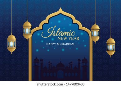 Elegant Design Islamic New Year Background