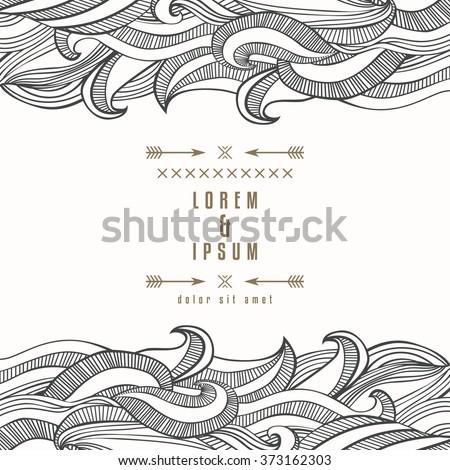 elegant design waves border wavy striped stock vector royalty free