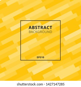 Elegant diagonal geometric or bold lines pattern with black frame yellow background. Vector illustration