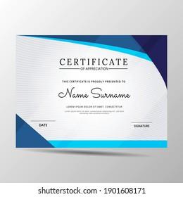 elegant diploma certificate template. Use for print, certificate, diploma, graduation
