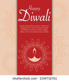Elegant diwali design for different uses