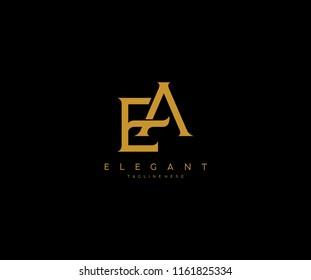 Elegant EA E A Letter Linked Logo Design