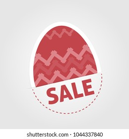 Elegant easter background with egg with ornaments - sale