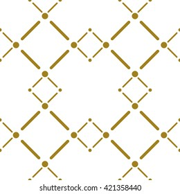 Elegant endless background. Gold vector seamless pattern.