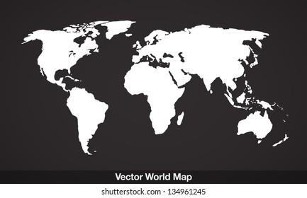Elegant EPS10 vector World Map