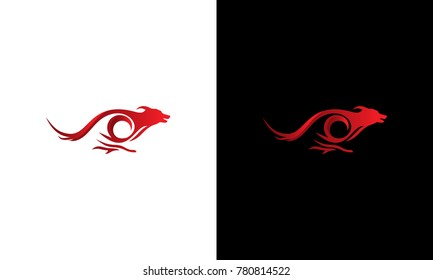 Elegant Fast jumping dog logo vector, Dog Training logo template designs, Dog logo designs Template
