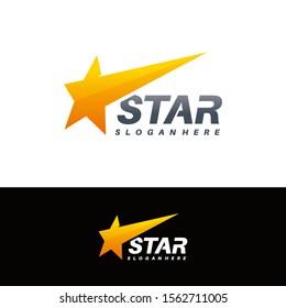Elegant Fast Star logo designs concept vector
