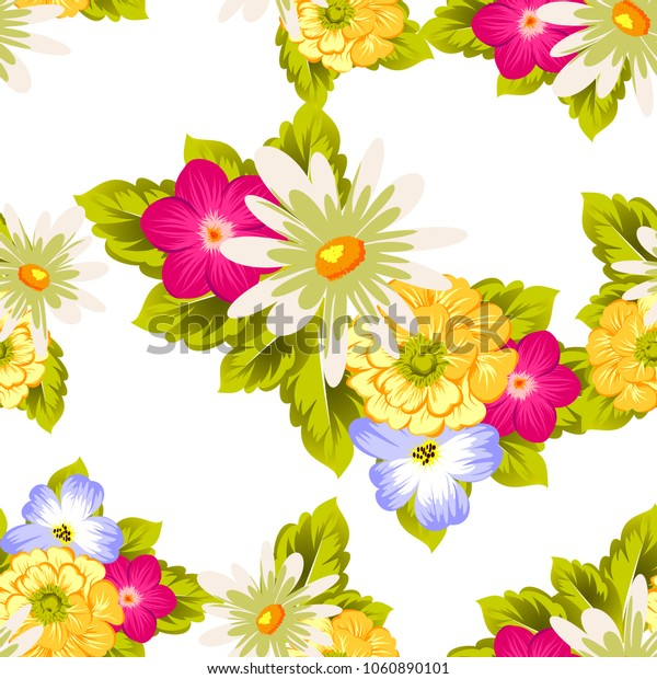elegant floral abstract seamless pattern. For your fashion design, fabric, postcards. Congratulations and invitations for birthday, wedding, party and more. Vector illustration.