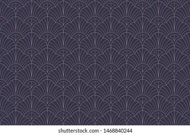 Elegant floral art nouveau seamless pattern. Abstract damask minimalist background. Geometric art deco texture.
