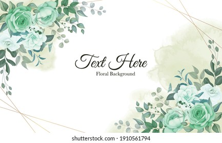 Elegant floral background with soft flowers