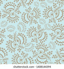 Elegant floral lace repeat pattern with dots leaves, with a touch of vintage. Great for wallpaper, wrapping paper, book cover, background.