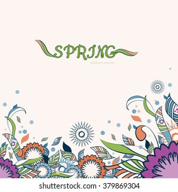 elegant floral and ornamental spring item background. decoration abstract flowers. colorful. perfect for flyers, cards, posters, banner, print product.
