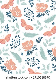 Elegant Floral Pattern. Elegant Background with floral designs. Good for Digital Print and Sublimation Techniques.