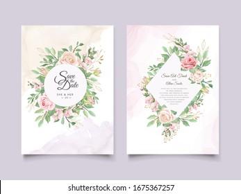 elegant floral wreath wedding card