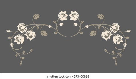 Elegant flower motif design,Vector illustration.luxury style.