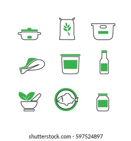 Elegant Food and Agriculture Icons Set Created For Mobile, Web And Applications