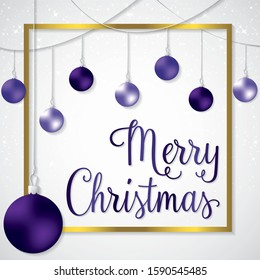 Elegant frame bauble Christmas card in vector format.