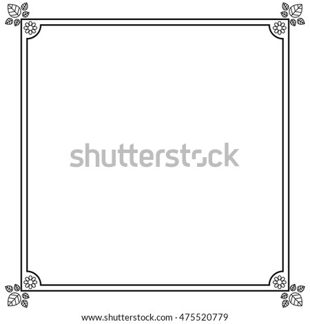 Elegant Frame Decoration Isolated Vector Illustration Stock Vector ...