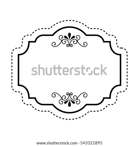 Elegant Frame Isolated Icon Vector Illustration Stock Vector ...