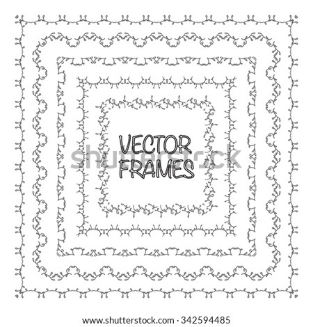 Elegant Frame Templates Borders Design Square Stock Vector (Royalty ...