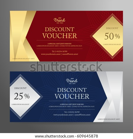 elegant gift voucher gift card coupon stock vector royalty free